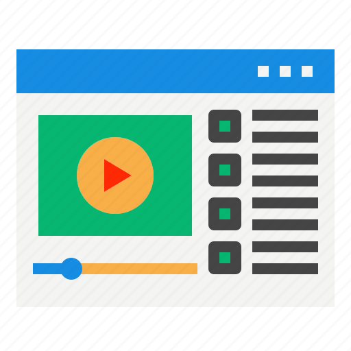 course, online, video icon