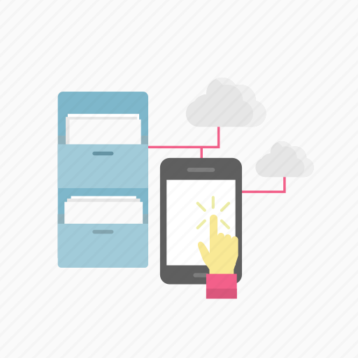 cloud, e-learning, education, online, phone, study, technology icon