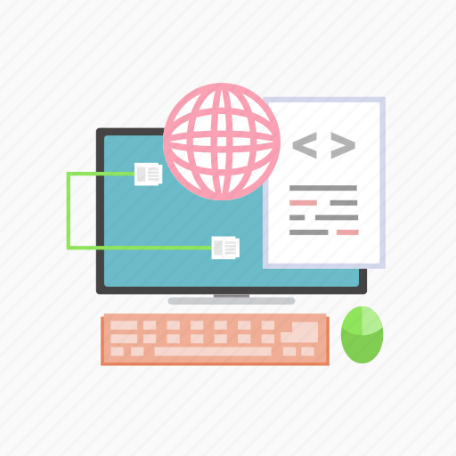 code, e-learning, education, learning, online, study, technology icon