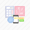 calculator, e-learning, education, math, online, study, technology icon