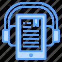 ebook, headphone, tablet, book, audio