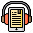 tablet, book, audio, headphone, ebook