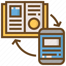 book, diploma, e-learning, education, learn, school, smartphone icon