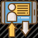 arrow, diploma, e-learning, education, learn, school, smartphone