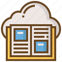 book, cloud, diploma, e-learning, education, learn, school icon