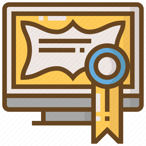 certification, computer, diploma, e-learning, education, learn, school icon