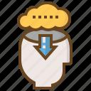 arrow, brain, diploma, e-learning, education, learn, school icon