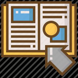 arrow, book, diploma, e-learning, education, learn, school icon