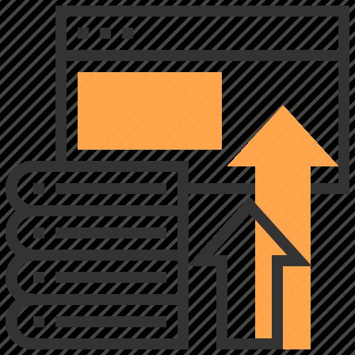 arrow, book, content, e-learning, education, school, web icon
