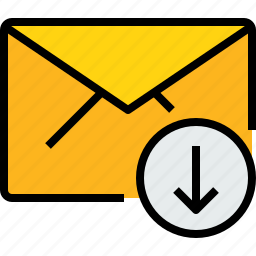 arrow, communication, email, mail, message, online icon