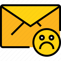 bad, communication, email, mail, message, online icon