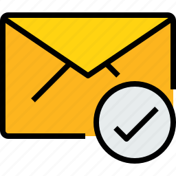 check, communication, email, mail, message, online icon