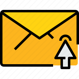 click, communication, email, mail, message, online icon