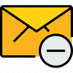 communication, email, mail, message, online, remove icon