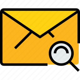 communication, email, mail, message, online, search icon