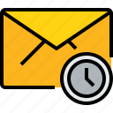 communication, email, mail, message, online, time icon