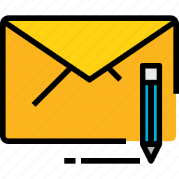 communication, email, mail, message, online, write icon