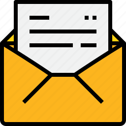 communication, email, mail, message, online, open icon