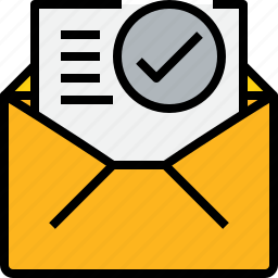 check, communication, email, mail, message, online, open icon