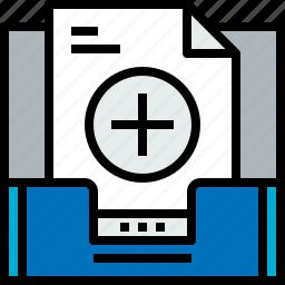 add, document, email, inbox, message, online icon