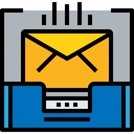 document, email, inbox, mail, message, online icon