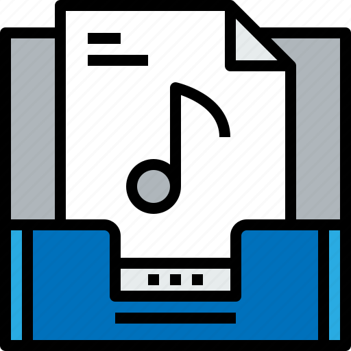 document, email, inbox, message, music, online icon