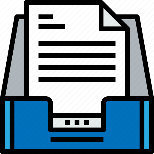 document, email, inbox, message, online icon