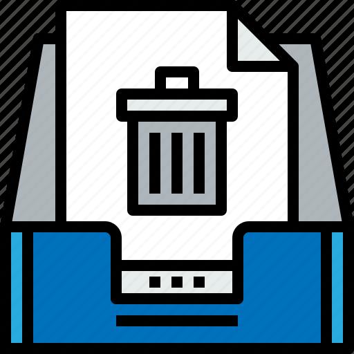 bin, document, email, inbox, message, online icon