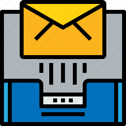 document, email, inbox, message, online, send icon
