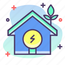 eco, electric, home, house icon