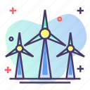 mill, wind energy, wind turbine, windmill icon