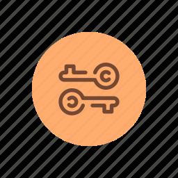 access, keys, lock, login, permission, unlock icon