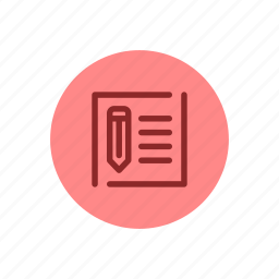 article, blog, blogging, content, paper, writer, writing icon