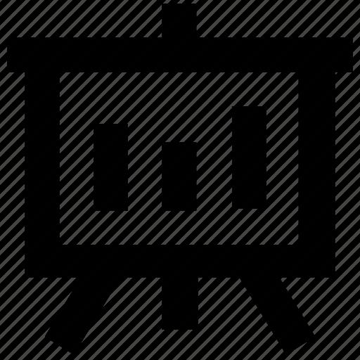 bar graph, chart, presentation, statistics icon