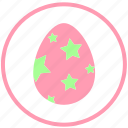 decorate, easter, egg, food, ornament, stars icon