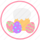 celebrating, decorate, easter, eggs, mini, ornament, pie icon