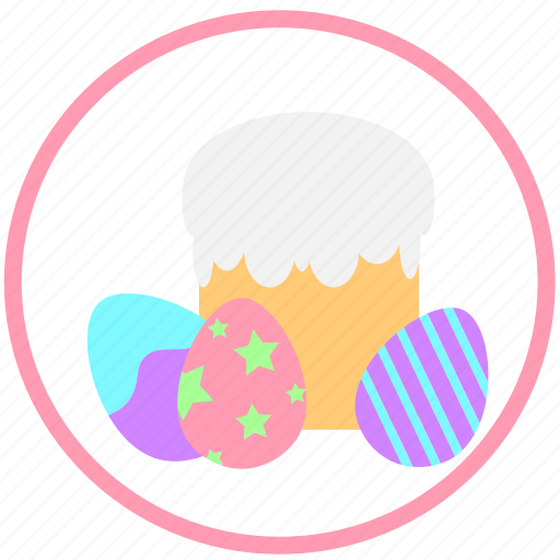 celebrating, decorate, easter, eggs, mini, ornament, pie icon
