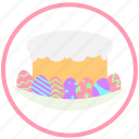 celebrate, decorate, easter, eggs, food, ornament, pie icon