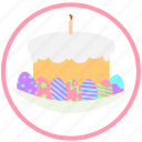 celebrating, decorate, easter, egg, eggs, ornament, pie icon
