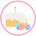 celebrate, decorate, easter, egg, eggs, ornament, pie icon
