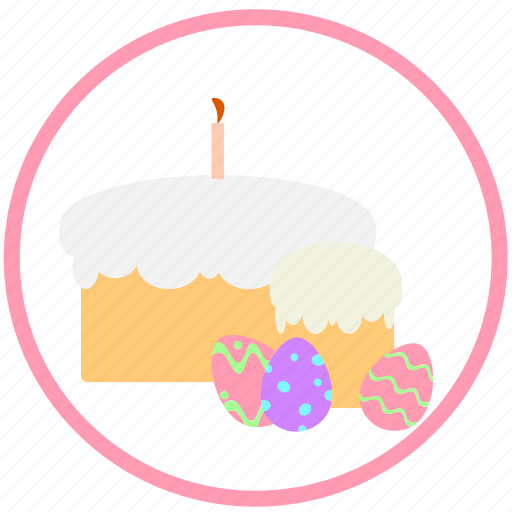 celebrating, decorate, easter, eggs, food, ornament, pie icon