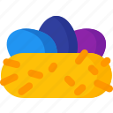 celebration, easter, egg, eggs, holiday, nest icon