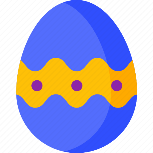 decorated, easter, egg, food, garden, spring icon