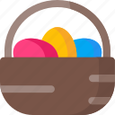 basket, easter, egg, food, gastronomy, healthy, restaurant icon