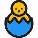 broken, celebration, chicken, easter, egg, holiday icon