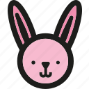 bunny, celebration, decorated, decoration, easter, rabbit icon
