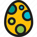 bunny, decorated, easter, egg, garden, spring icon