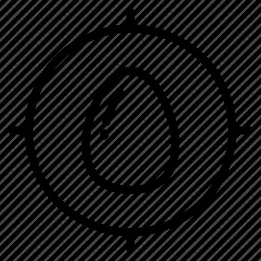 achieve, aim, easter, egg, goal, target icon