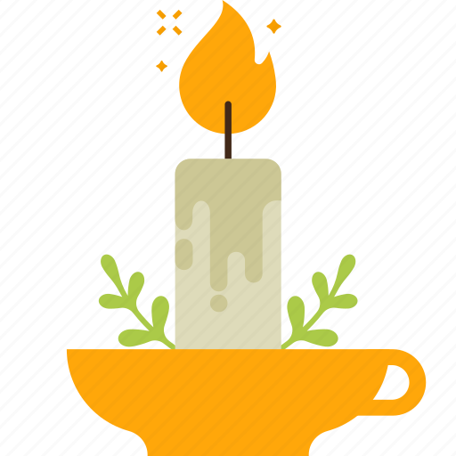 branch, candle, candle light, decoration, easter, flame icon