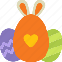 bunny ears, decoration, easter, egg, eggshell, rabbit ears icon